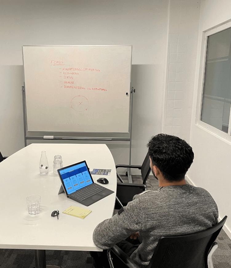 Mødelokale til online marketing hos Nem Media